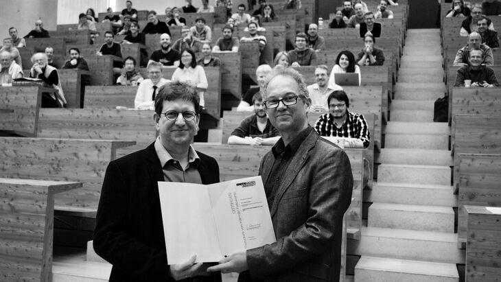 Prof. Alfons Weber and Prof. Achim Stahl