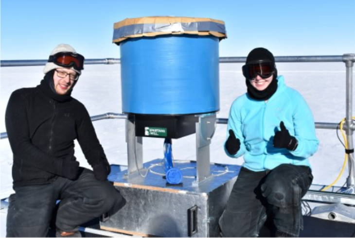 Imaging air Cherenkov telescope IceAct successfully installed at the South Pole
